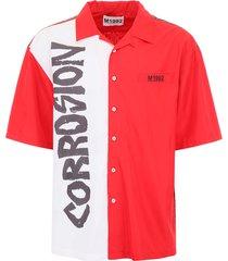 m1992 bicolor printed shirt