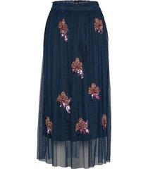gabbi skirt lång kjol blå unmade copenhagen