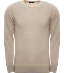 suéter anselmi decote careca bege