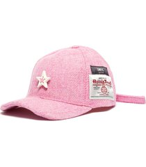 ceramic star herringbone tweed baseball cap