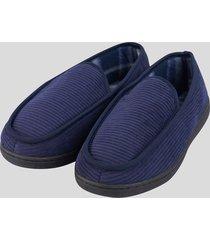 zapatillas de descanso pana azul baziani
