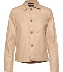shirt jacket, slim fit, shirt colla sommarjacka tunn jacka beige marc o'polo