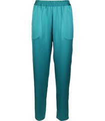 gianluca capannolo turquoise trousers