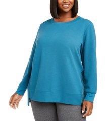 ideology plus size side-zipper sweatshirt, created for macy's