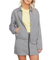 women's volcom frochickie houndstooth jacket