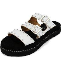 sandalia  moda dama blanco tellenzi 4402
