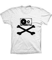 camiseta baby look lu geek fita caveira branco - branco - feminino - dafiti