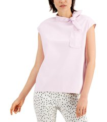 alfani tie-neck top, created for macy's