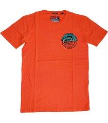 superdry stevig zacht oranje t-shirt box fit