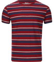 camiseta a rayas horizontales color rojo, talla s