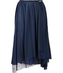 balenciaga lace detail skirt - blue