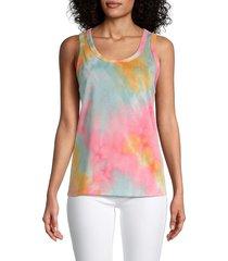 supply & demand women's ellie tie-dye tank top - raincloud multi - size s