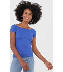 blusa fiveblu canelada azul