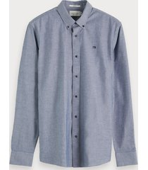 scotch & soda chambray overhemd | relaxed fit
