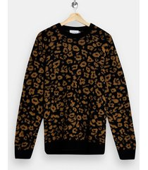 mens multi animal print knitted sweater