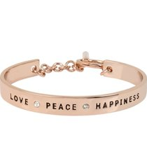 bcbgeneration 'love', 'peace' & 'happiness' affirmation toggle bracelet