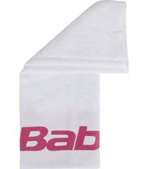 toalha babolat branca e rosa