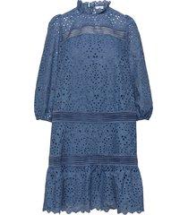 balloon power knälång klänning blå ivy & oak