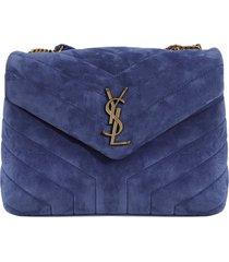 lou lou shoulder bag, sapphire blue