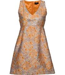 3381 - clair korte jurk oranje sand