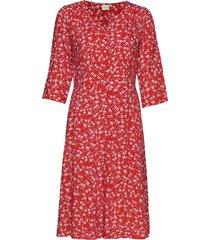daisycr dress knälång klänning röd cream