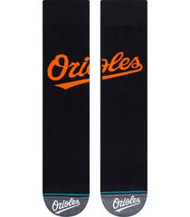 men's stance baltimore orioles crew socks, size large - black