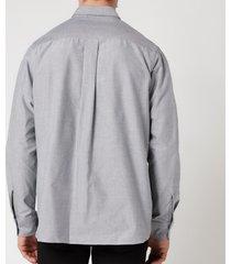 kenzo men's tiger crest oxford shirt - black - xxl/18