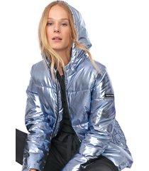 jaqueta colcci ampla prata