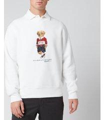 polo ralph lauren men's polo sport bear sweatshirt - white - xxl