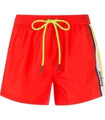 iceberg paneled shorts - red
