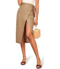 women's reformation florence linen skirt