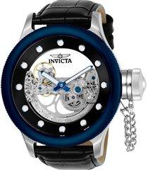 reloj invicta negro modelo 245nr para hombres, colección russian diver
