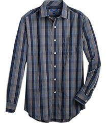 cole haan grand.øs. navy check sport shirt