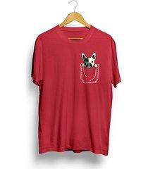 camiseta cuello redondo estampada para hombre jack supplies en tela jersey - rojo