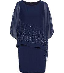 abito di jersey con paillettes (blu) - bodyflirt
