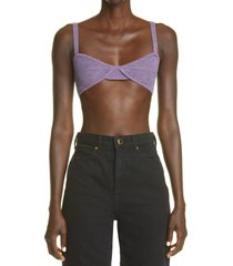khaite the eda cashmere bralette, size small in amethyst at nordstrom