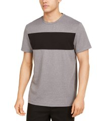 alfani men's colorblocked ottoman stripe t-shirt, created for macy's