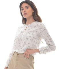 blusa para mujer en poliester negro color-blanco-talla-xl