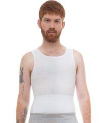 kit 2pçs regata slim fitness modeladora postural branca