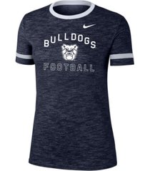 nike women's butler bulldogs slub fan ringer t-shirt