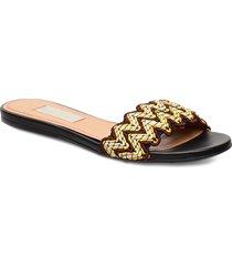 alaia, 838 alaia sandal shoes summer shoes flat sandals brun stine goya