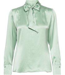 blouse long-sleeve blus långärmad blå gerry weber