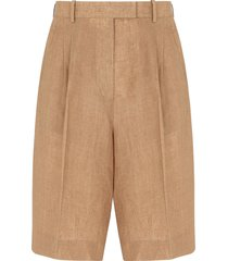 fendi tailored bermuda shorts - neutrals