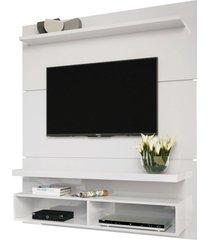 "painel home suspenso para tv atã© 55"" sala de estar guns branco - gran belo - branco - dafiti"