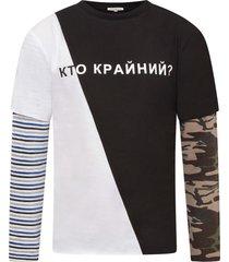 natasha zinko white and black boy t-shirt