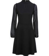 abito in jersey con maniche in mesh (nero) - bodyflirt