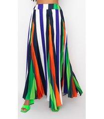 akira tropical dream pleated maxi skirt
