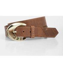 cinturón unifaz de cuero tejido