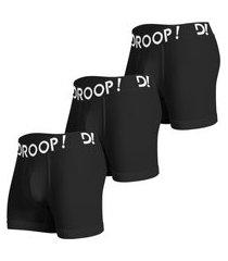 3 cuecas boxer algodão droop! promoção!!! multicolorido
