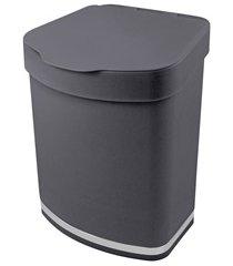 lixeira cinza chumbo 2,5 litros